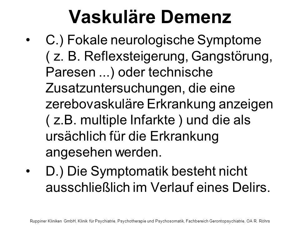 Vaskuläre Demenz