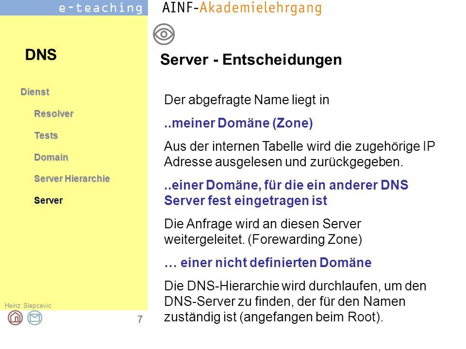 Server - Entscheidungen