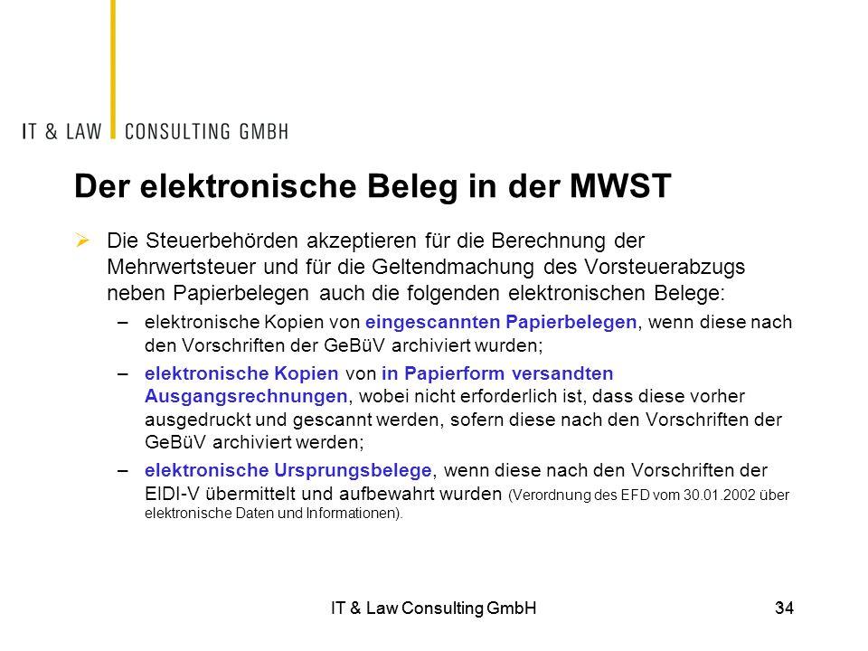 Der elektronische Beleg in der MWST