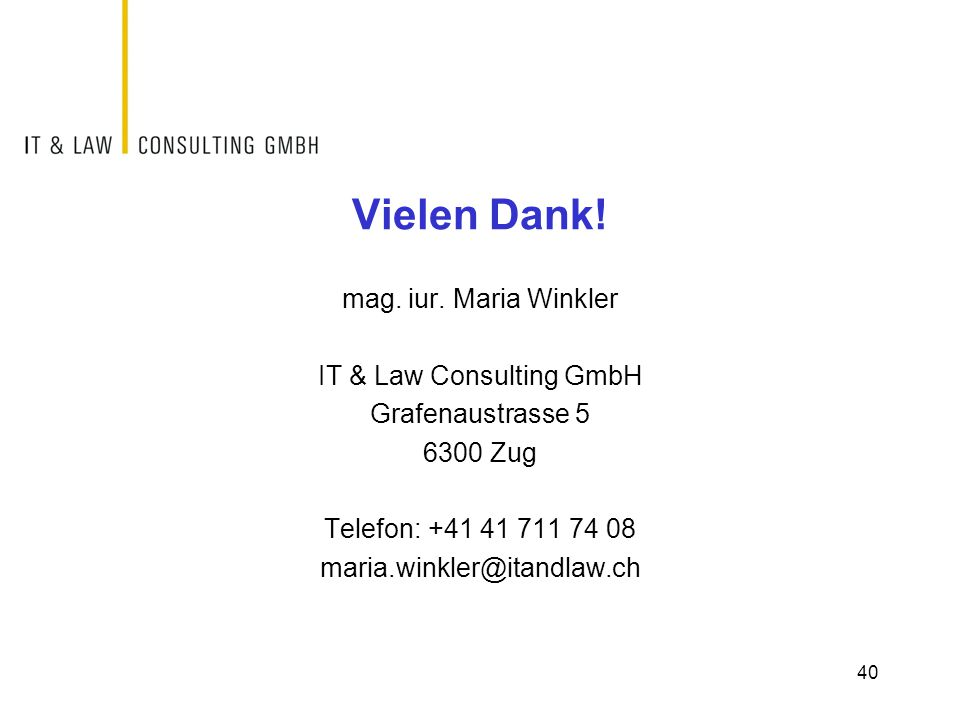 IT & Law Consulting GmbH