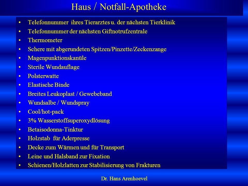 Haus / Notfall-Apotheke