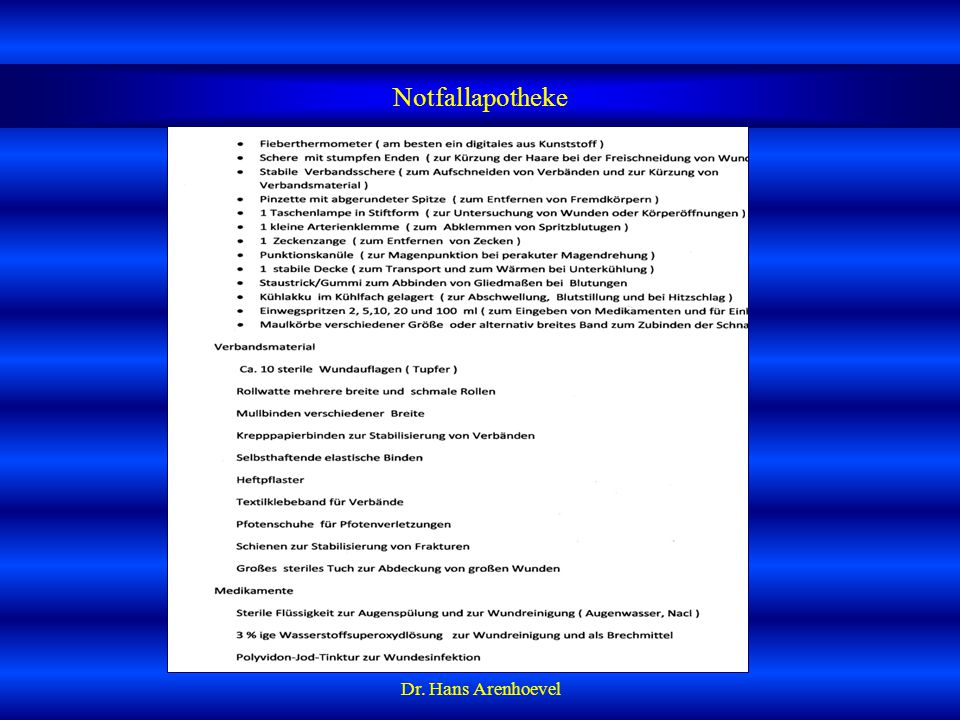 Notfallapotheke Dr. Hans Arenhoevel