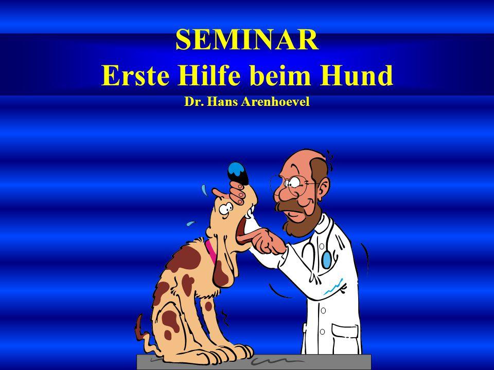 SEMINAR Erste Hilfe beim Hund Dr. Hans Arenhoevel