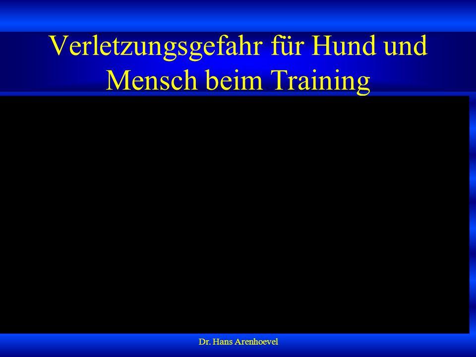 Verletzungsgefahr für Hund und Mensch beim Training