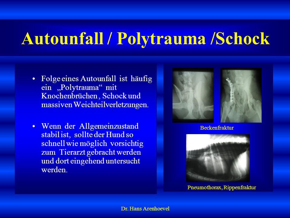 Autounfall / Polytrauma /Schock