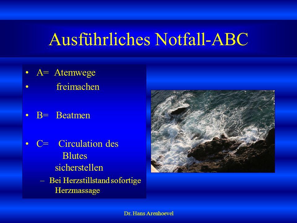 Ausführliches Notfall-ABC