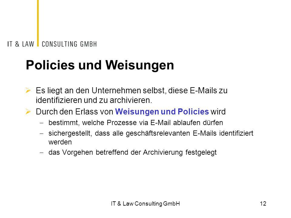 Policies und Weisungen