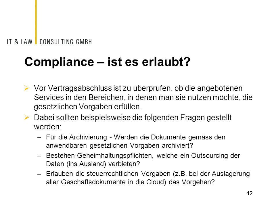 Compliance – ist es erlaubt