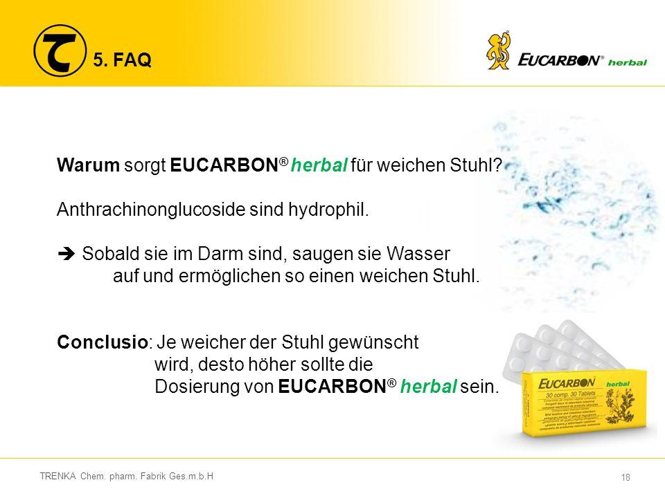 Warum sorgt EUCARBON® herbal für weichen Stuhl