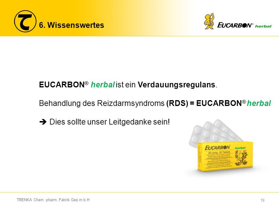 EUCARBON® herbal ist ein Verdauungsregulans.