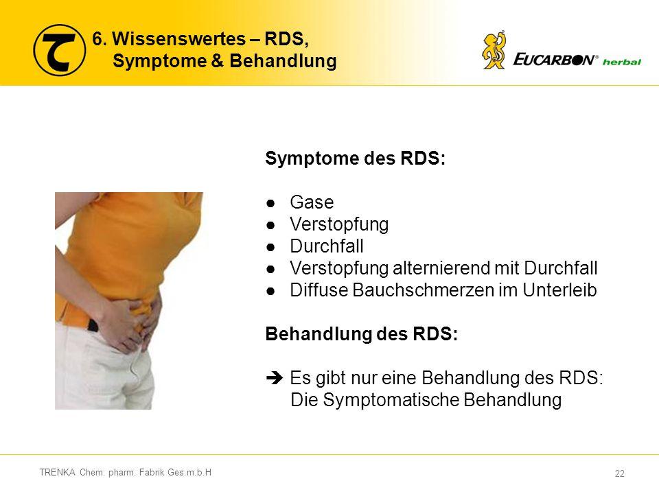 6. Wissenswertes – RDS, Symptome & Behandlung