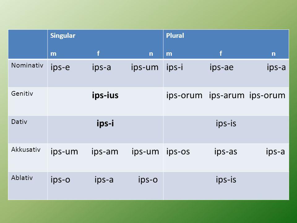 ips-orum ips-arum ips-orum ips-i ips-is ips-um ips-am ips-um