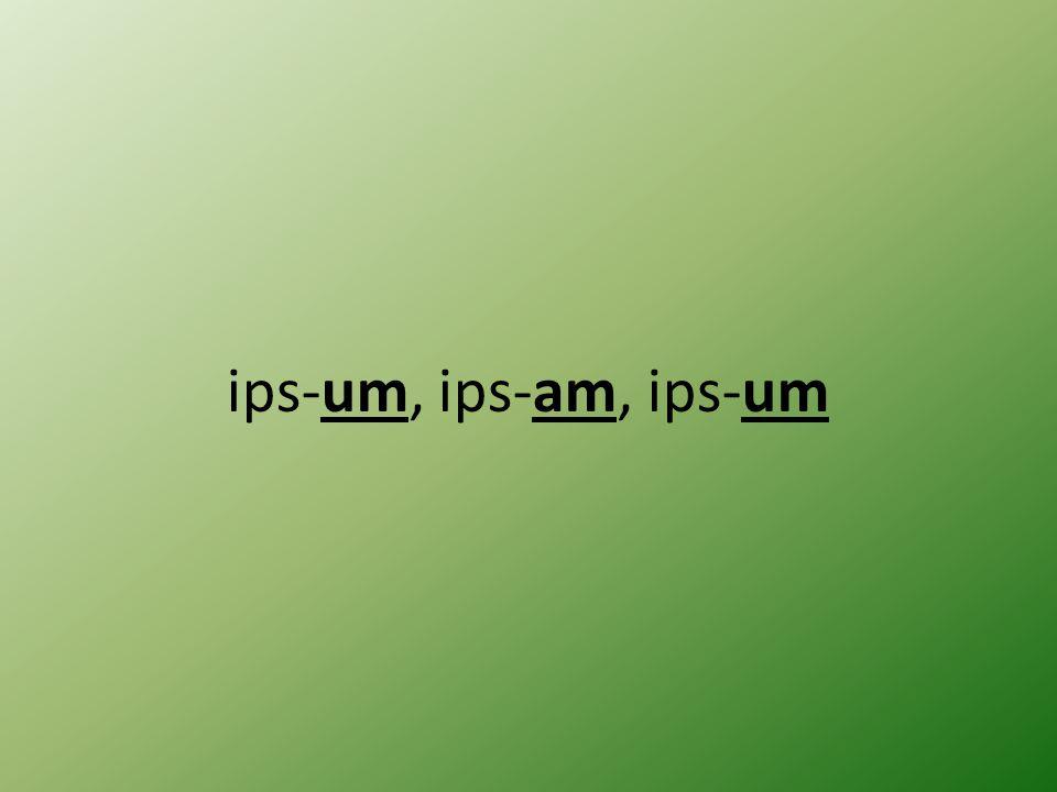 ips-um, ips-am, ips-um