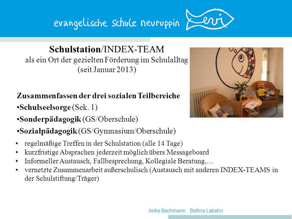 Schulstation/INDEX-TEAM als ein Ort der gezielten Förderung im Schulalltag (seit Januar 2013)
