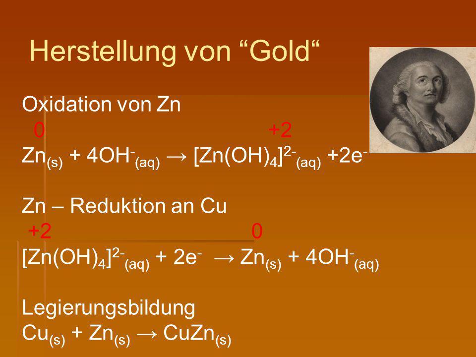 Herstellung von Gold