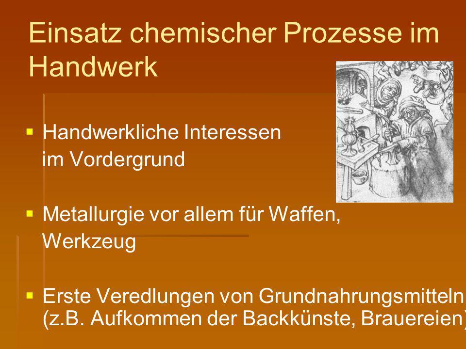 Einsatz chemischer Prozesse im Handwerk