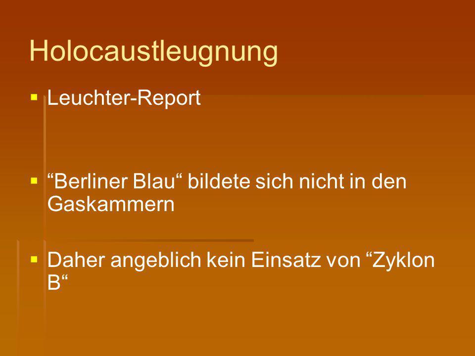 Holocaustleugnung Leuchter-Report