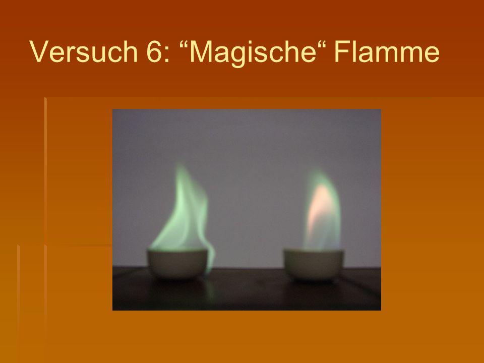 Versuch 6: Magische Flamme