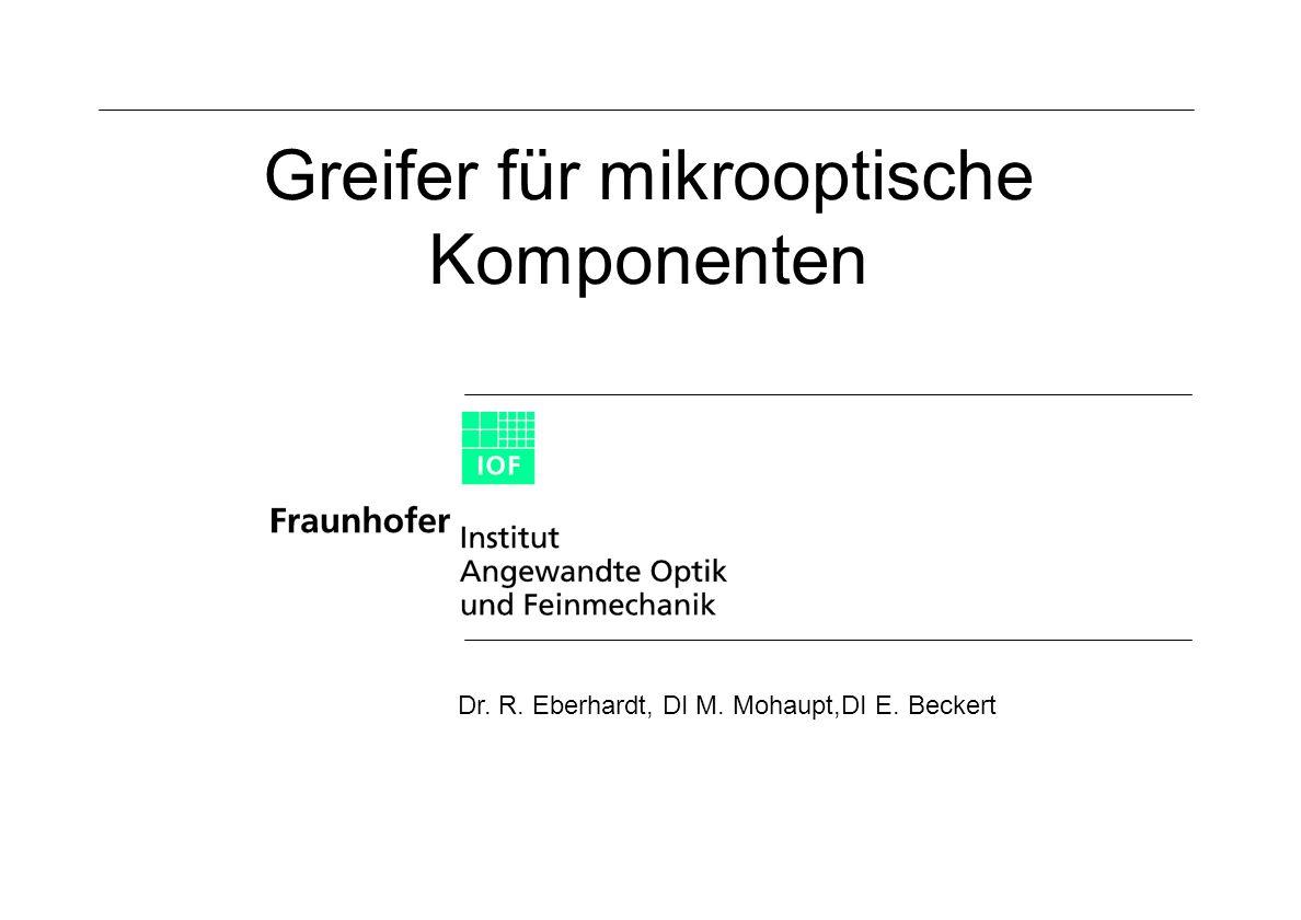 Greifer für mikrooptische Komponenten