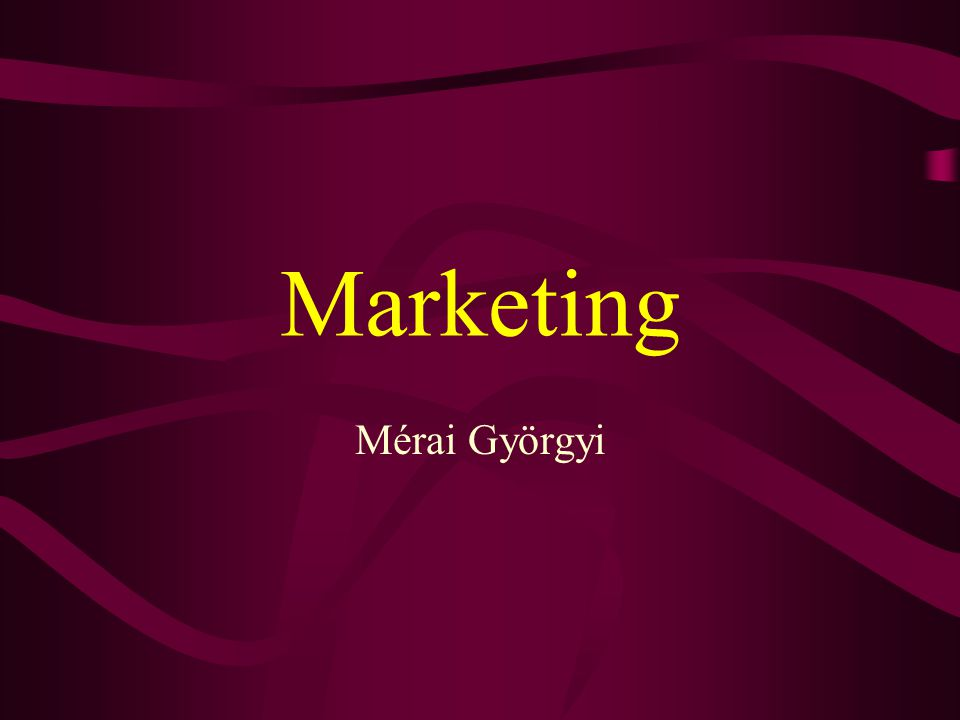 Marketing Mérai Györgyi
