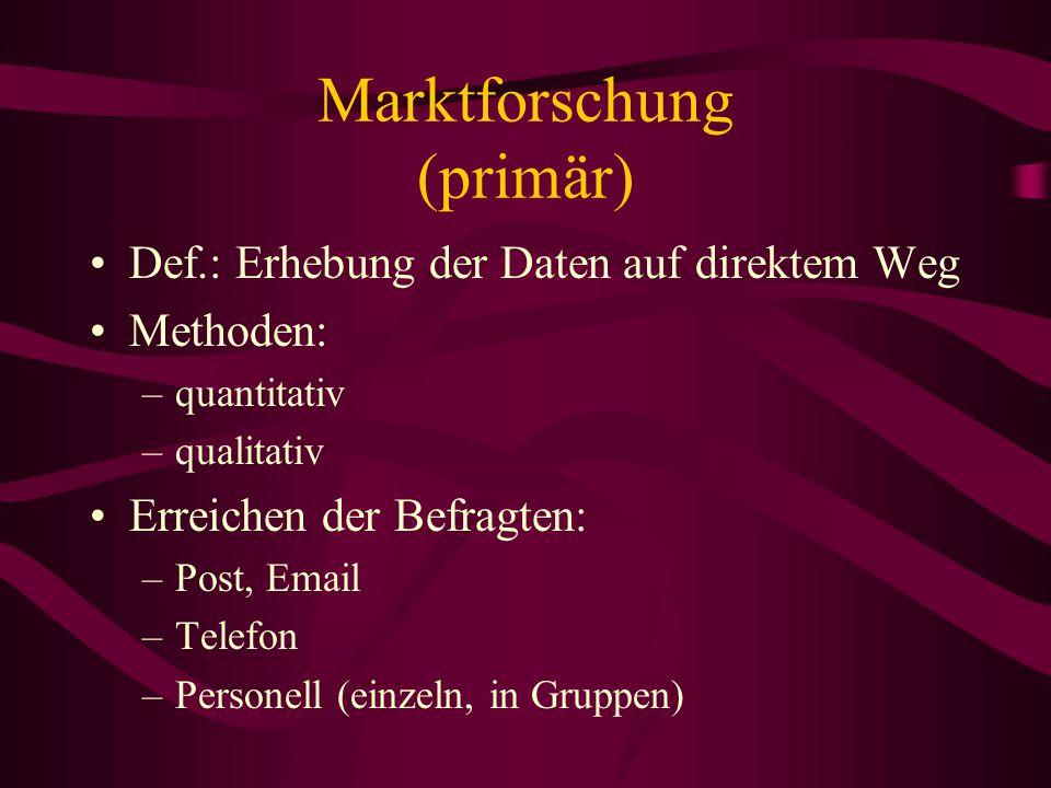 Marktforschung (primär)