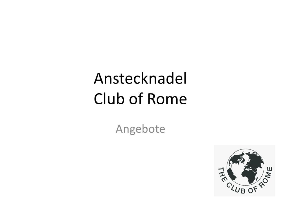 Anstecknadel Club of Rome