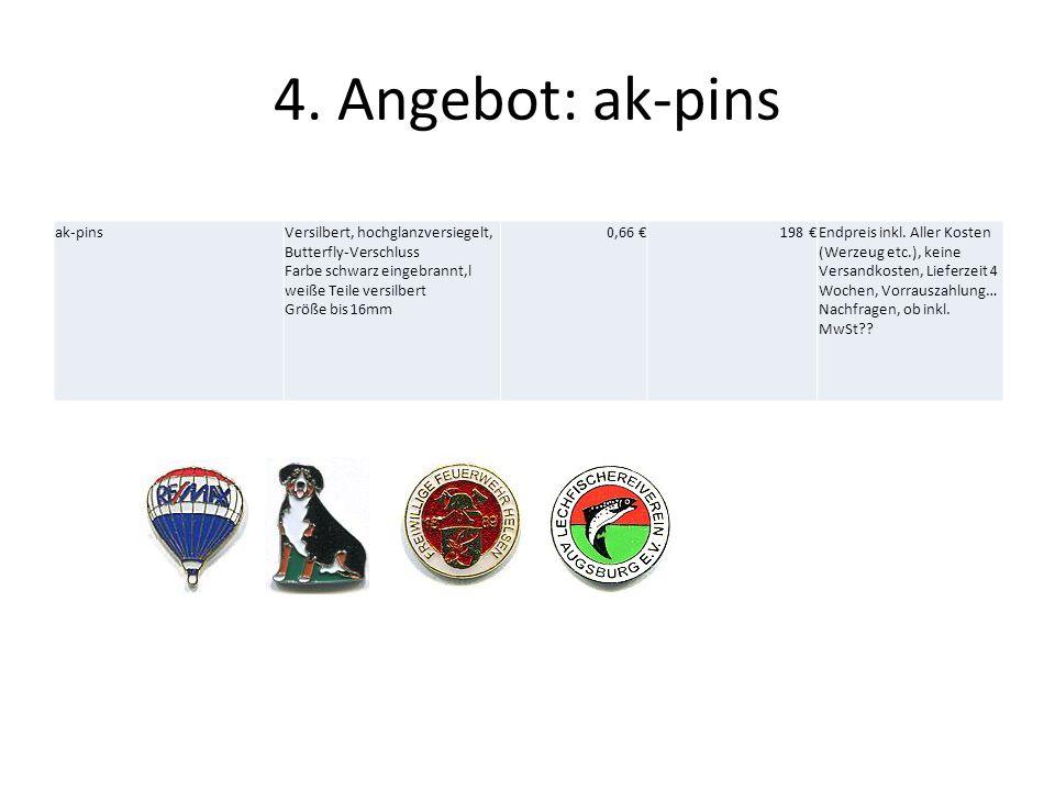 4. Angebot: ak-pins ak-pins