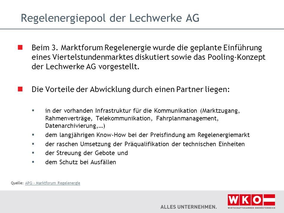 Regelenergiepool der Lechwerke AG