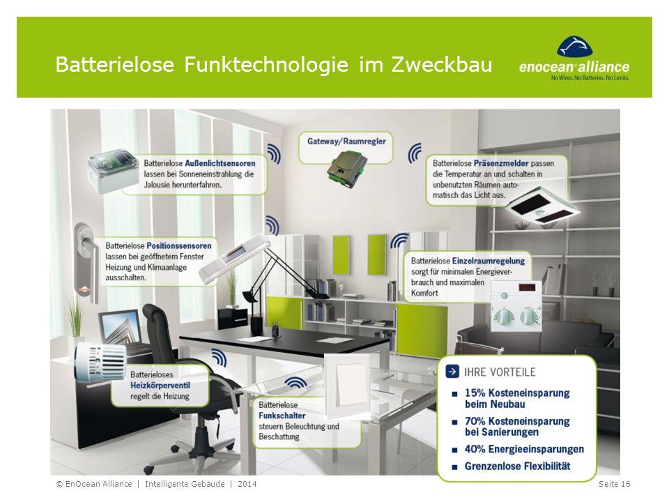 Batterielose Funktechnologie im Zweckbau