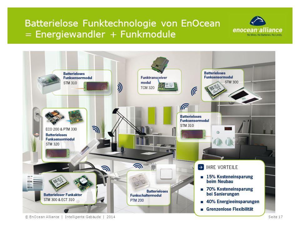 Batterielose Funktechnologie von EnOcean = Energiewandler + Funkmodule