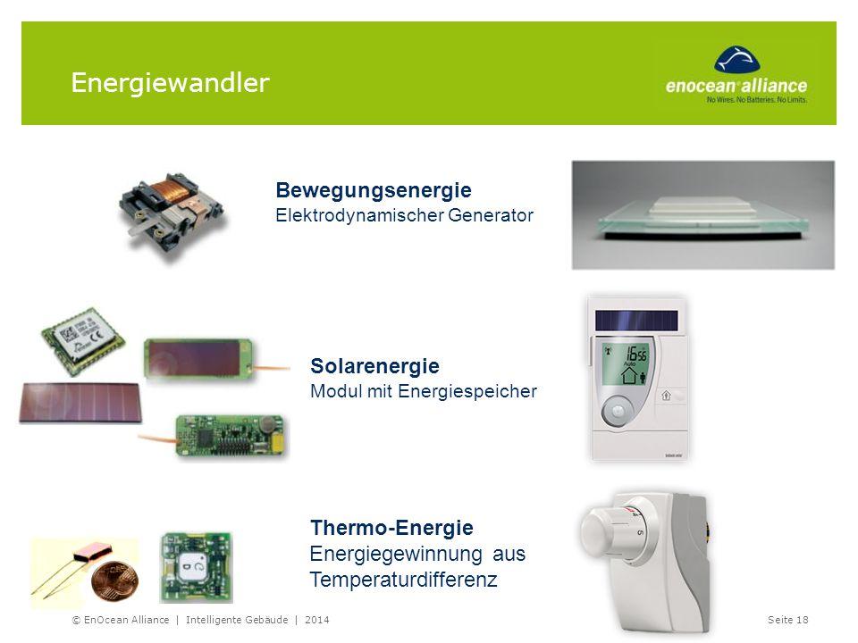 Energiewandler Bewegungsenergie Solarenergie Thermo-Energie
