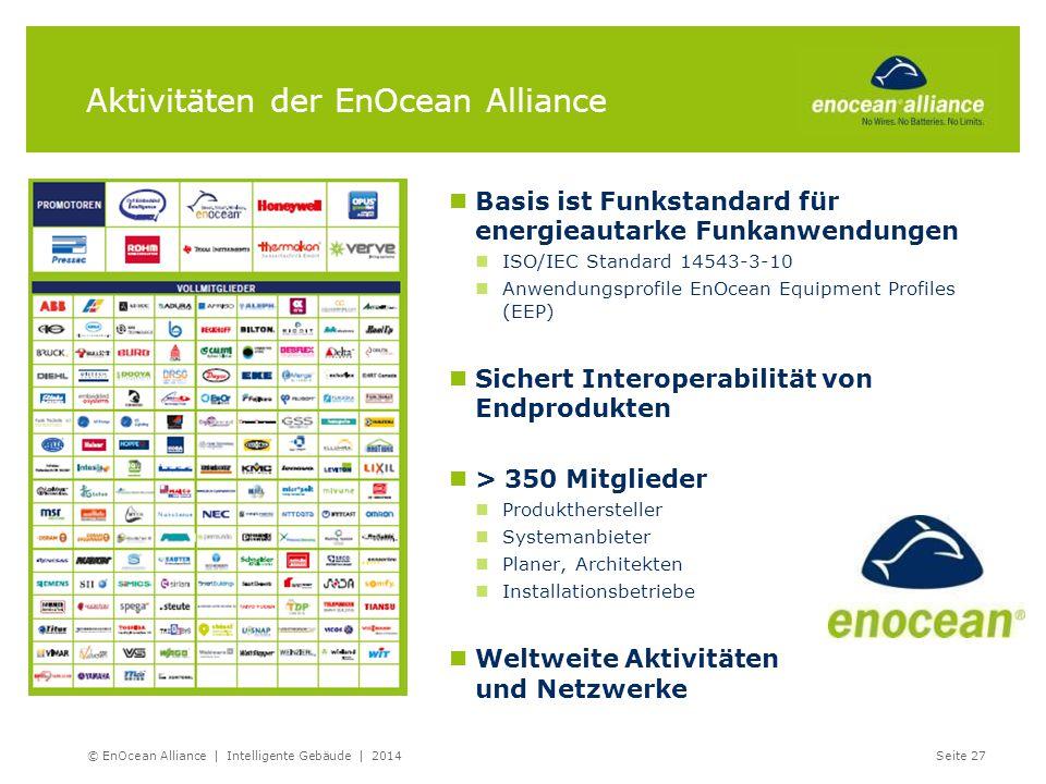 Aktivitäten der EnOcean Alliance