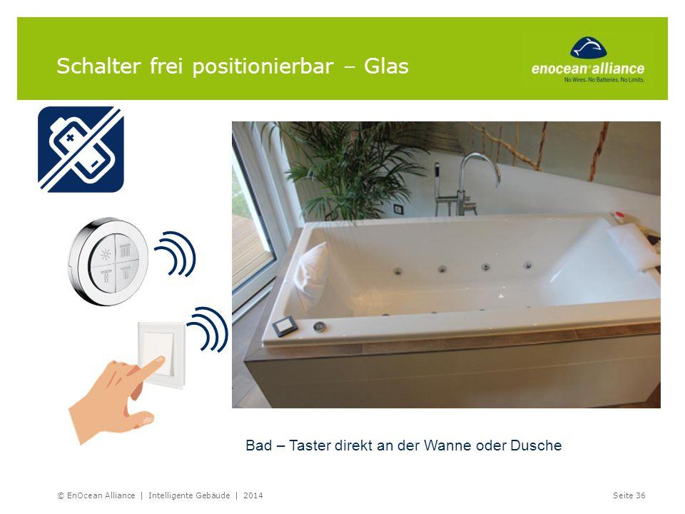 Schalter frei positionierbar – Glas