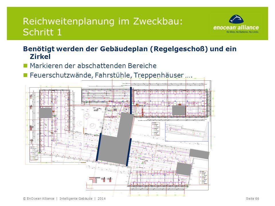 Reichweitenplanung im Zweckbau: Schritt 1