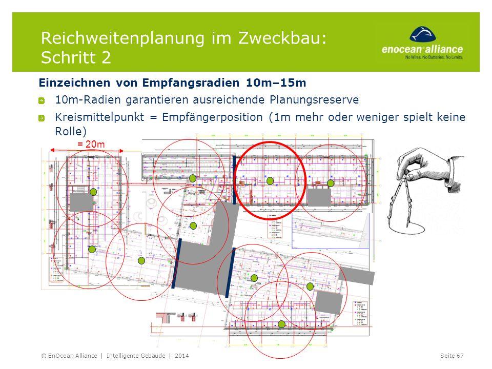 Reichweitenplanung im Zweckbau: Schritt 2