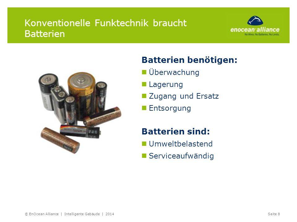 Konventionelle Funktechnik braucht Batterien