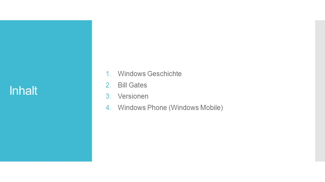 Inhalt Windows Geschichte Bill Gates Versionen