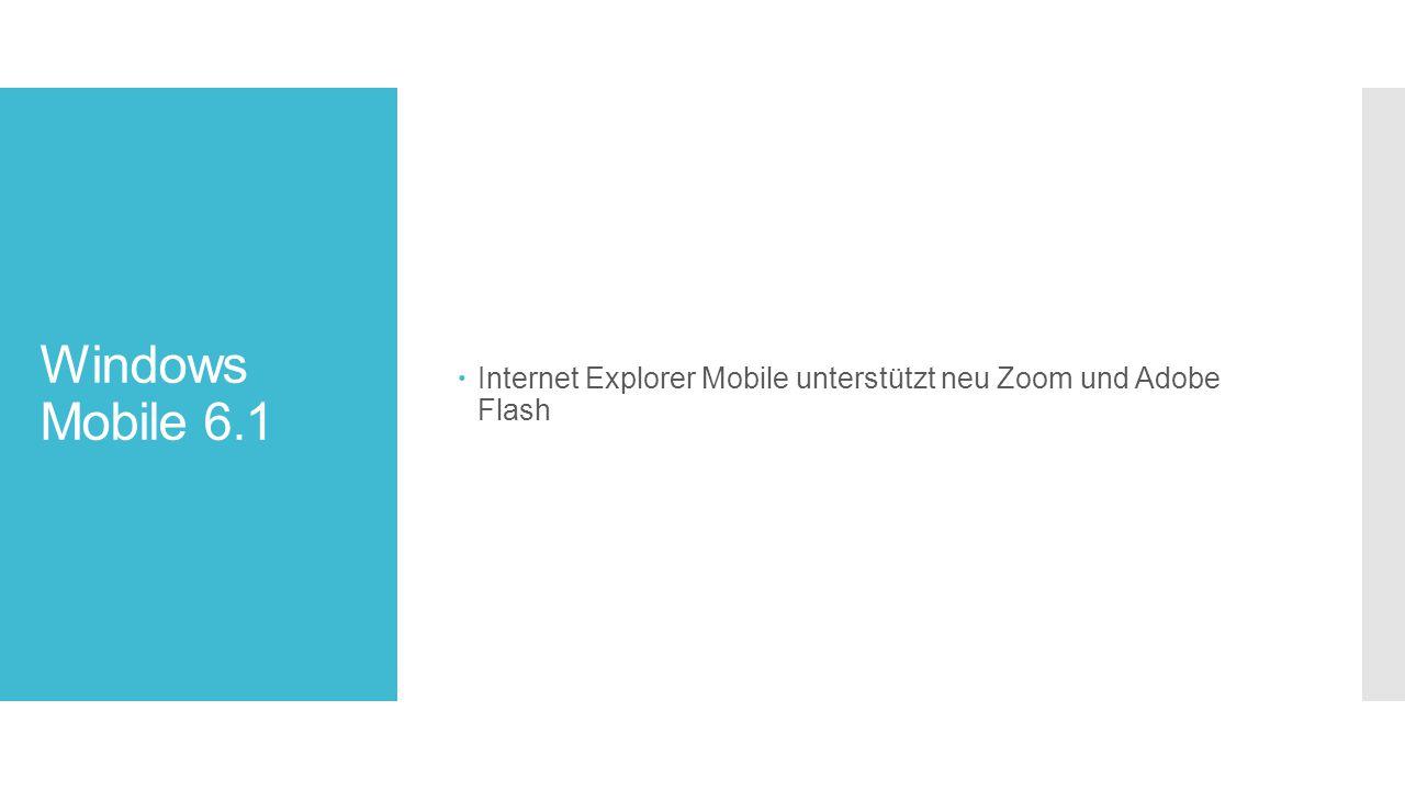 Internet Explorer Mobile unterstützt neu Zoom und Adobe Flash