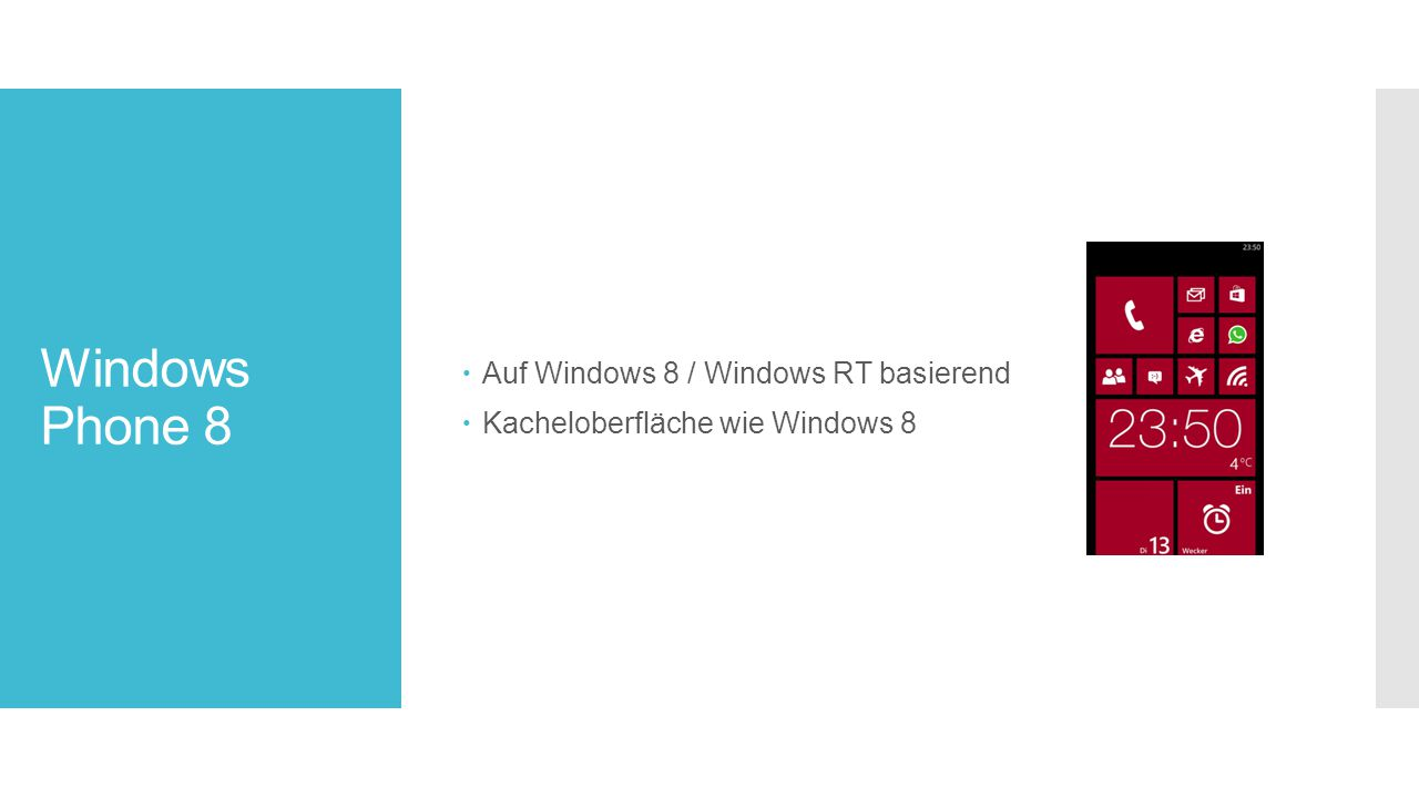 Windows Phone 8 Auf Windows 8 / Windows RT basierend