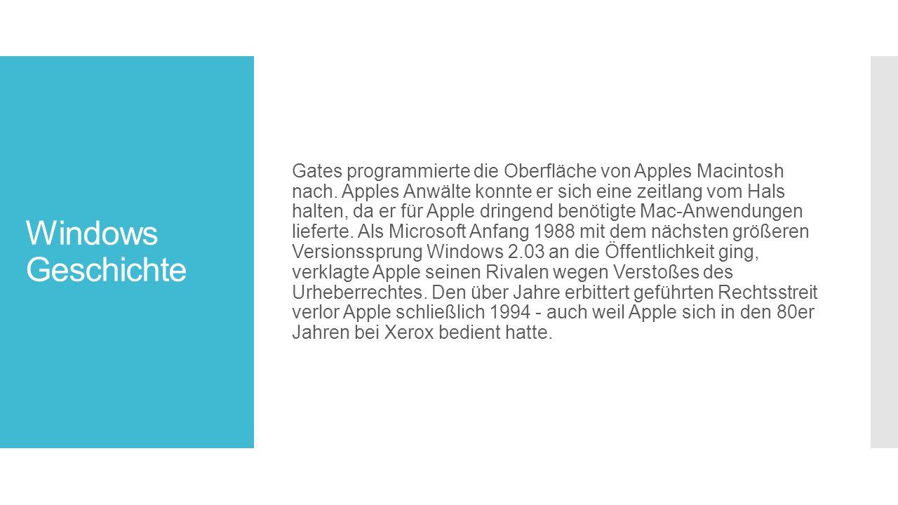 Gates programmierte die Oberfläche von Apples Macintosh nach
