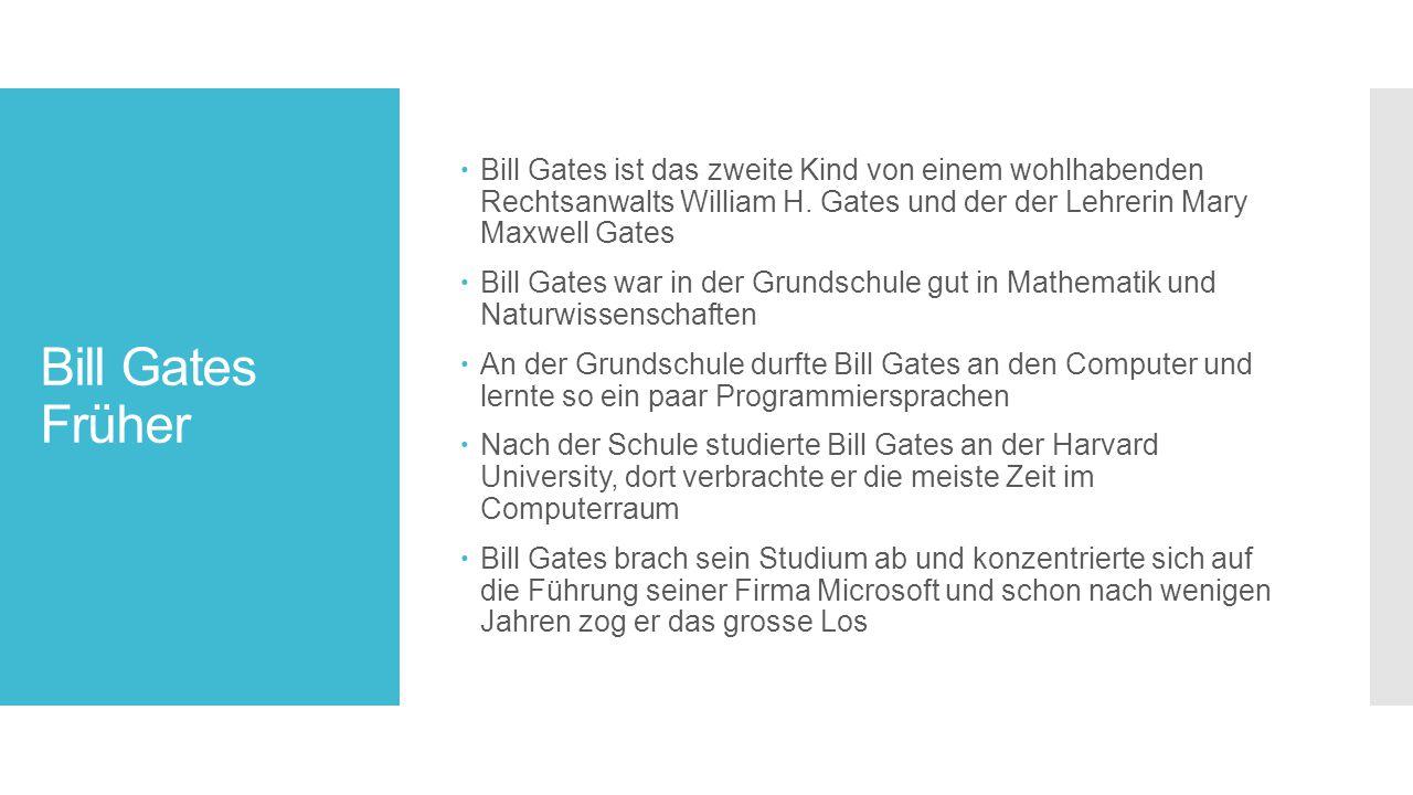 Bill Gates ist das zweite Kind von einem wohlhabenden Rechtsanwalts William H. Gates und der der Lehrerin Mary Maxwell Gates