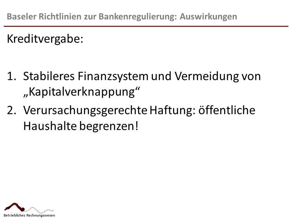 Baseler Richtlinien zur Bankenregulierung: Auswirkungen