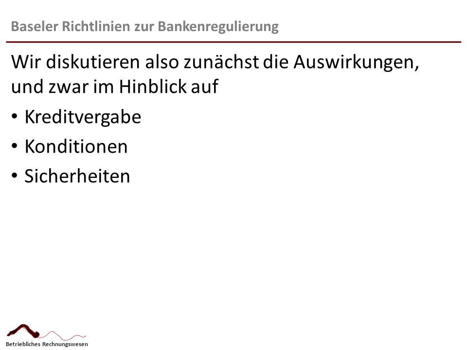 Baseler Richtlinien zur Bankenregulierung