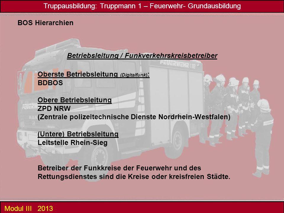 Betriebsleitung / Funkverkehrskreisbetreiber
