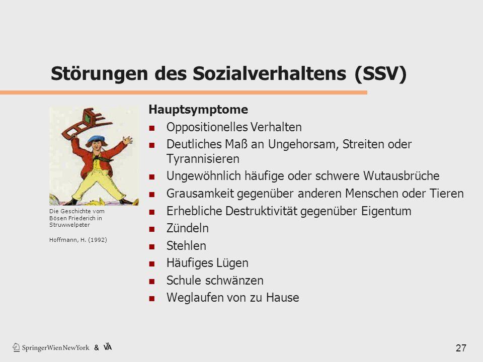 Störungen des Sozialverhaltens (SSV)