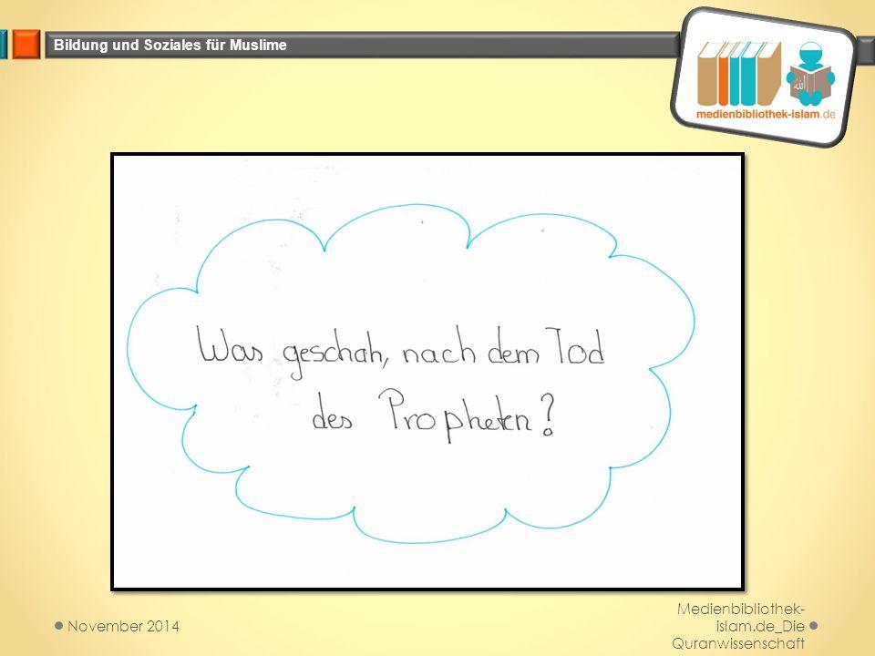 November 2014 Medienbibliothek-islam.de_Die Quranwissenschaft