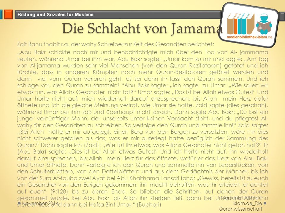 Die Schlacht von Jamama
