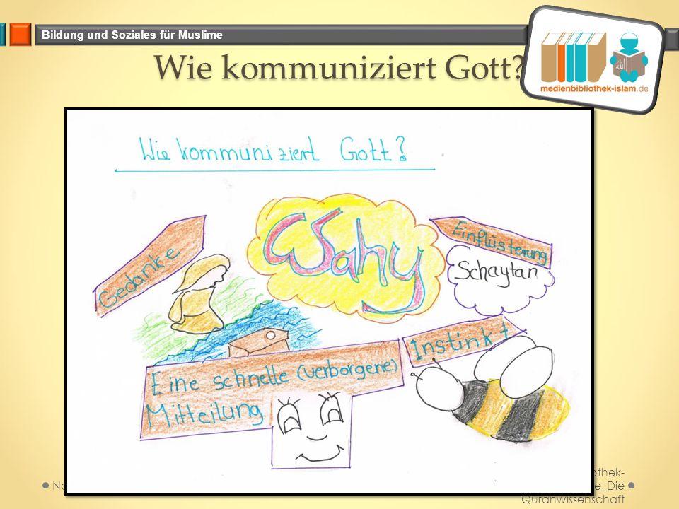 Wie kommuniziert Gott Medienbibliothek-islam.de_Die Quranwissenschaft