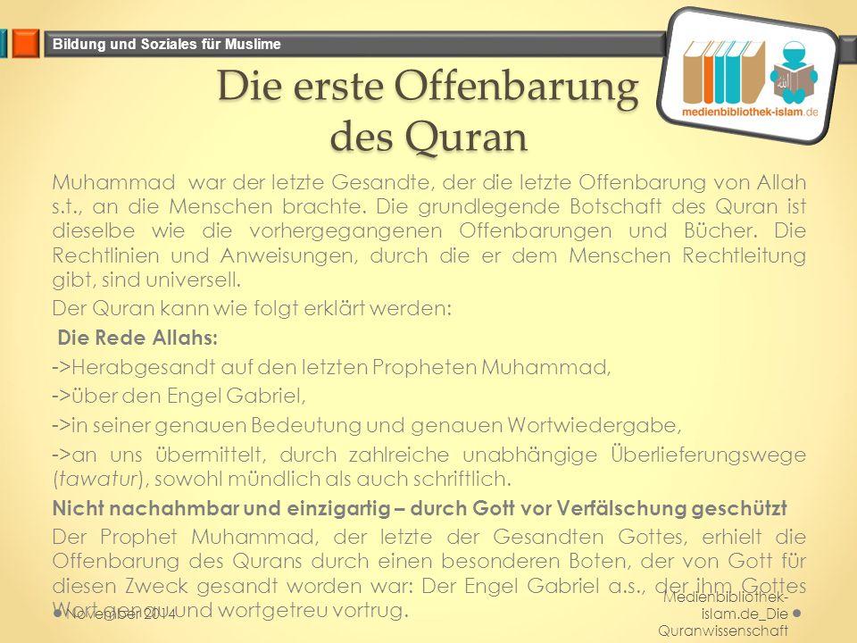 Die erste Offenbarung des Quran