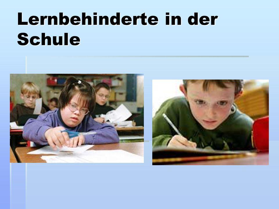 Lernbehinderte in der Schule
